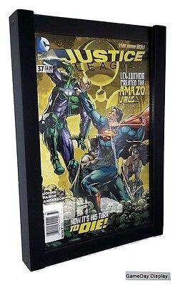 Comic Book Display Frame Case Shadow Box Black Magazine Lot of 3 A