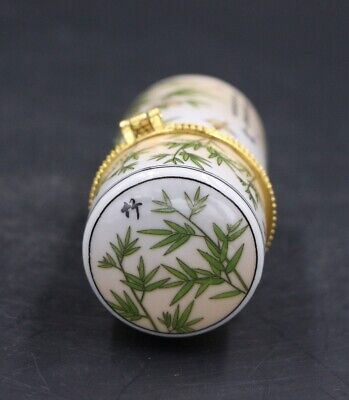 Chinese Porcelain bamboo Toothpick Box Holder Storage Lucky Jewelry Box 5