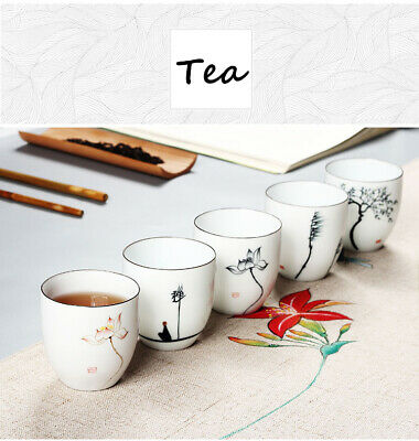 Teacups Drinkware Chinese Kung Fu Tea Cup Ceramic Porcelain Tea Set Accessories 12