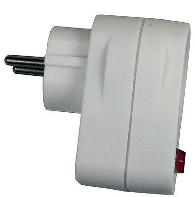 Steckdose mit SCHALTER Steckdosenverteiler Adapter 10x 2fach Leiste Schuko ZS