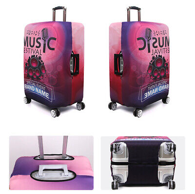 """Elastic Printed Luggage Suitcase Skin Cover Protector 18 -32"""" Thick Anti Scratch 9"""