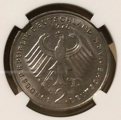 1978 D GERMANY 2 MARKS NGC MS 65 - Copper-Nickel Clad Nickel - Top Pop!!! 2