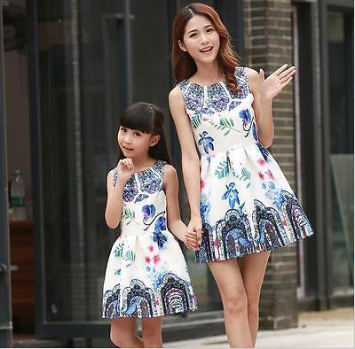 204e020b0f ... New Mother Daughter Matching Dresses Summer Women Dress Girl Clothes  Outfit 2016 8