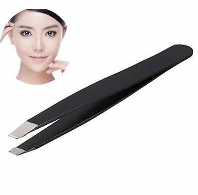 Professional Stainless Steel Slant Tip Eyebrow Tweezer Hair Removal Makeup Tools 3