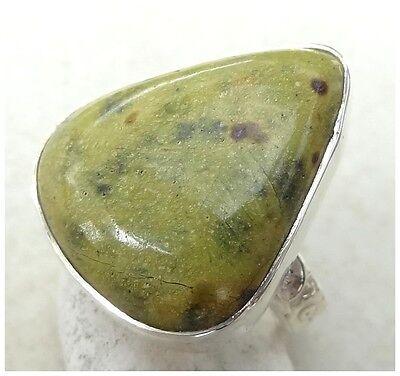 GENUINE 925 Sterling Silver STICHTITE SEMI PRECIOUS Gemstone RING SIZE L ~ 5 3/4