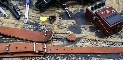 "1 3//4/"" Buckle Plain Punk Goth Classic Leather Insert Guitar Strap Leopard Pink"