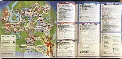 NEW Mickey's Very Merry Christmas Party MVMCP 2019 Park Map + Bonus Map!! WDW 5