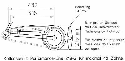 Fahrrad Kettenschutz DEKAFORM 219-2 KTM Mars Pegasus Kettenkasten Schutzblech