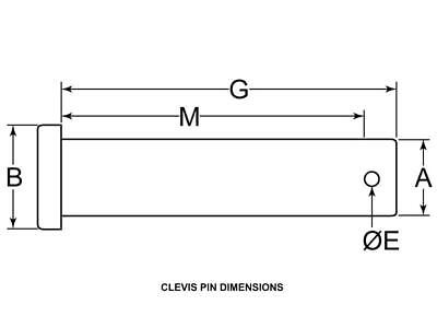 Steel Clevis Pin 1/2 X 1