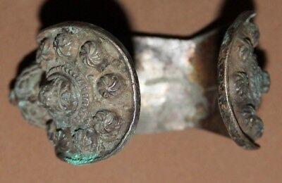 Antique Greek Folk Hand Made Bronze Fertility Bracelet
