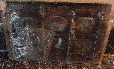 Sierra Bakelite Brown 1 Toggle/2 Outlet Switch Plate With Screws~Fast Free Ship! 2
