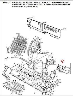 808893501 Genuine Electrolux Westinghouse Refrigerator Lower Control Board 7 • AUD 109.90