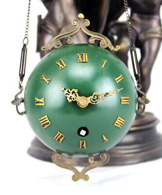 Rare Mystery Brass Lady Cherub Upside Down Chain Ball Swinger Swinging Clock 10