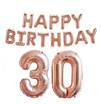 Rose Gold 16/18/21st/30/40/50/60th Foil Number Happy Birthday Balloon Decoration 5