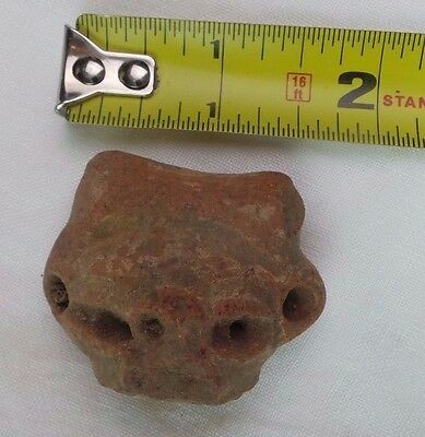 Pre Columbian Colombian Mayan Terracotta Figure Head  #18 3