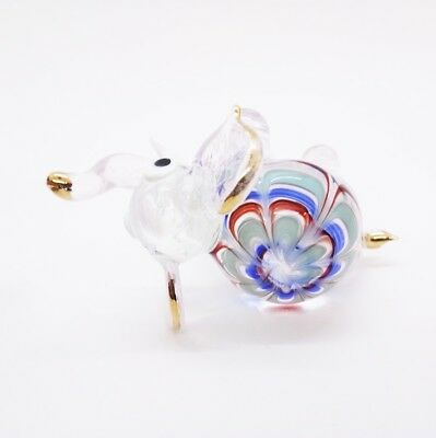 Elephant Fancy Blown Glass Hand Blowing Art gifts Figurine Animals Decor Cute 6