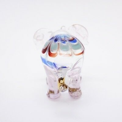 Elephant Fancy Blown Glass Hand Blowing Art gifts Figurine Animals Decor Cute 5