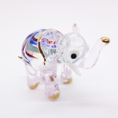 Elephant Fancy Blown Glass Hand Blowing Art gifts Figurine Animals Decor Cute 3