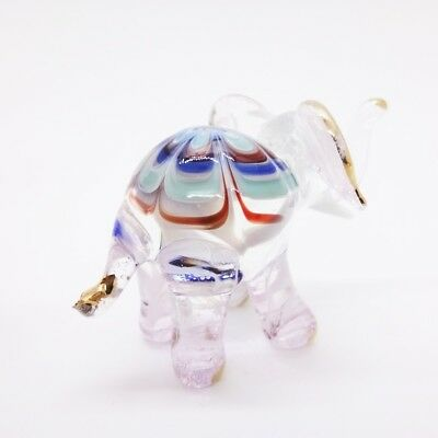Elephant Fancy Blown Glass Hand Blowing Art gifts Figurine Animals Decor Cute 4