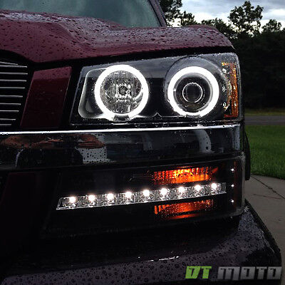 2003 2006 Chevy Silverado 1500 Led Projector Headlights Drl Per Lights 12