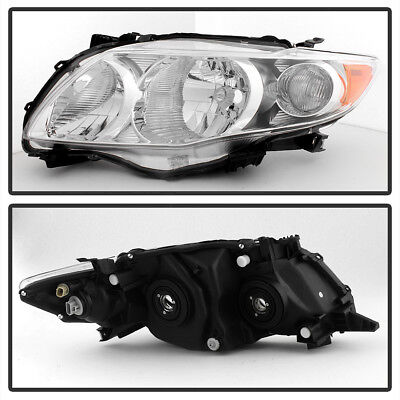 For Chrome 2009 2010 Toyota Corolla Headlights Headlamps Replacement Left Right 2