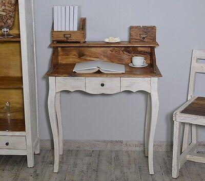 French Style Secretary Table Dressing Table Wood Oak White Vintage Retro 3