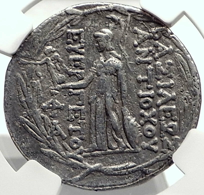 ANTIOCHOS VII Sidetes Seleukid Ancient Silver Greek TETRADRACHM Coin NGC i68736 2