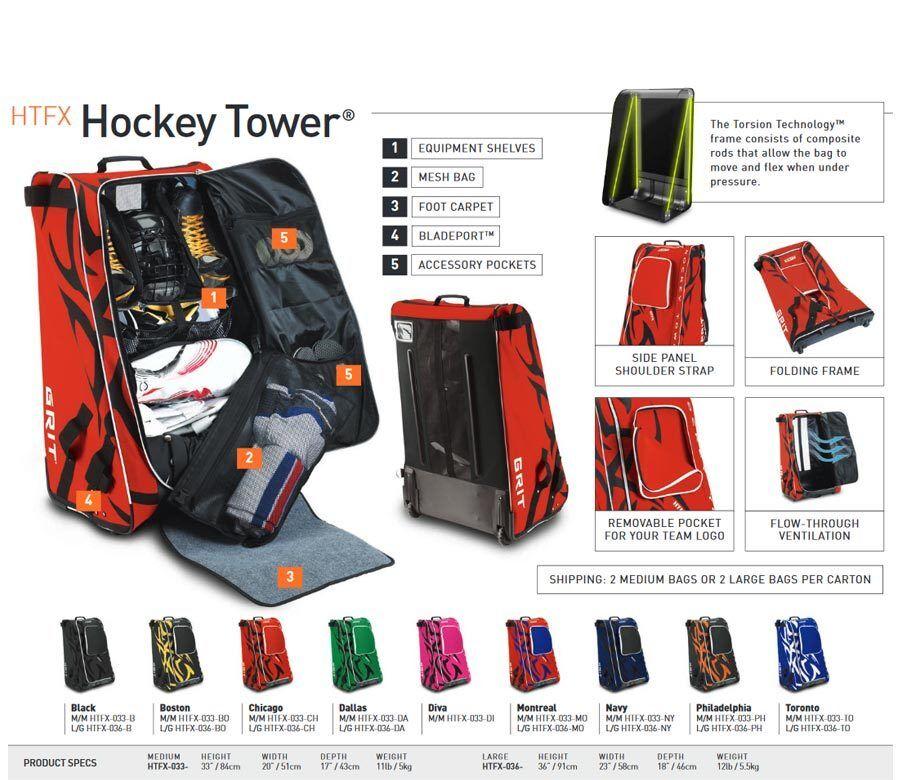 29f53a61ab7 Eishockey Tasche Grit HTFX Hockey Tower Senior 36   2 2 von 7 ...