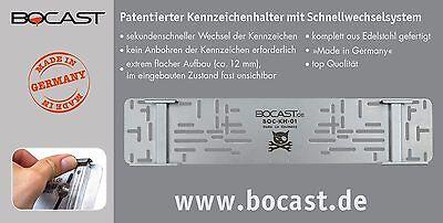 BOCAST Edelstahl Kennzeichenhalter PKW Motorrad 220 bis 280 x 200 Oldtimer Käfer