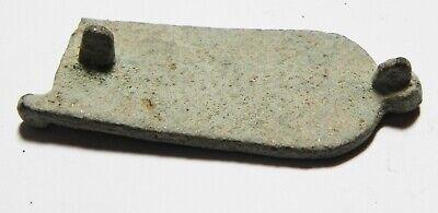 ZURQIEH -as11122- ANCIENT BYZANTINE BRONZE BELT BUCKLE. 600 A.D 2