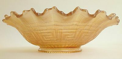 Antique Northwood Greek Key Marigold 9-inch Carnival Glass Plate, Art Glass Bowl 2
