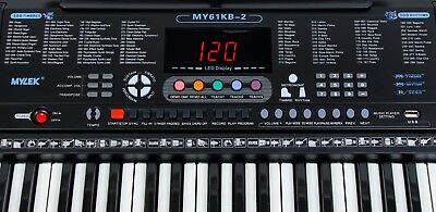 Musical Keyboard Electronic Digital Piano 61 Key Adults Beginner With Stand 8