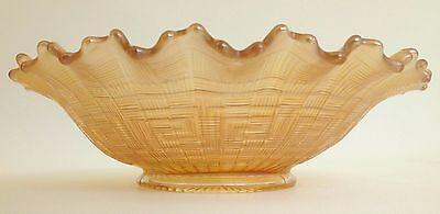 Antique Northwood Greek Key Marigold 9-inch Carnival Glass Plate, Art Glass Bowl 9