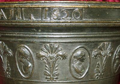 Italien Bronze Mörser Apotheke Postament Sizilien Catania Zanghi 1520 / 1820 11