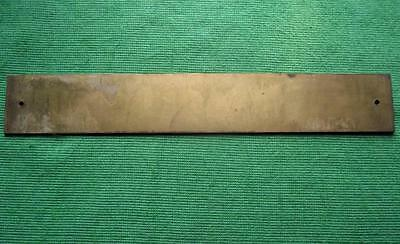 """Old Brass Vintage Sign Plaque Dr Debbie Smithers Surgeon Physician 12"""" X 1.75"""" 2"""