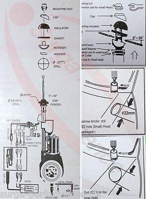 MERCEDES MB W123 W124 W126 W201 W202 ELEKTRISCHE ANTENNE Kotflügel Teleskop neu