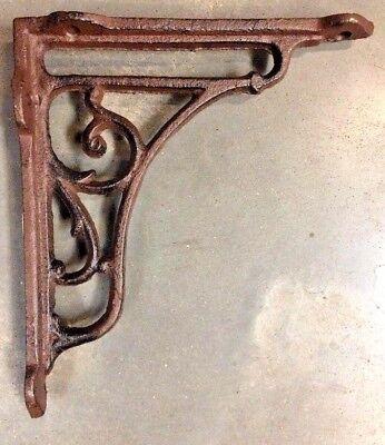 Set of 4 Gothic Vine Corbel cast iron shelf brace bracket antique brown finish 2