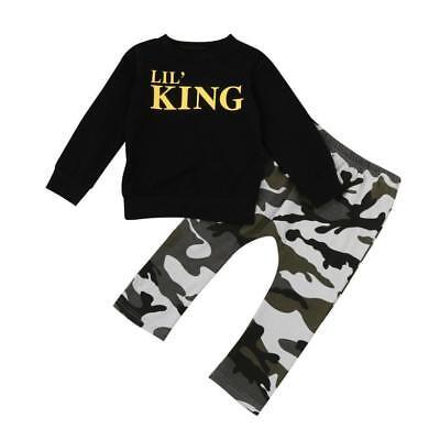 2pcs Newborn Toddler Infant Kids Baby Boy Clothes T-shirt Tops+Pants Outfits Set 4