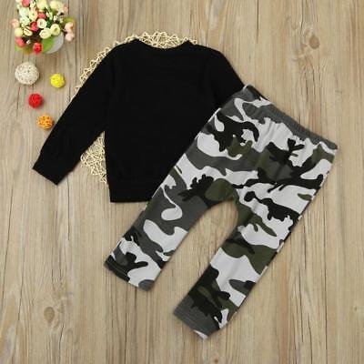 2pcs Newborn Toddler Infant Kids Baby Boy Clothes T-shirt Tops+Pants Outfits Set 6