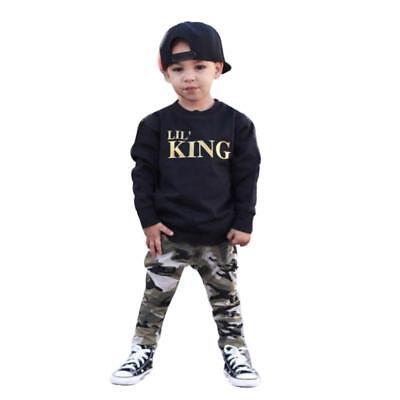 2pcs Newborn Toddler Infant Kids Baby Boy Clothes T-shirt Tops+Pants Outfits Set 3