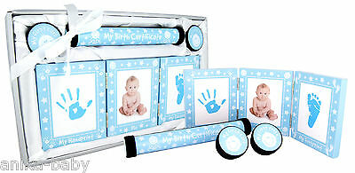 New Baby Keepsake Gift Set Christening Present Boy Girl - Silver Pink Blue Gold 3