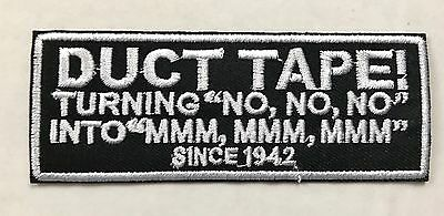 """NO/"""" HOOK BACK FOR BACKPACK ETC! TACTICAL MORALE PATCH DUCT TAPE TURNING /""""NO NO"""
