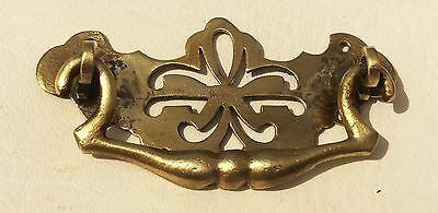 """Circa 1750 Chippendale Federal antique hardware drawer pull brass 2 1/2"""" center 5"""
