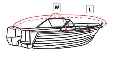 Abdeckplane Oceansouth Bowrider Cover 6 Größen sehr passgenau 300g//qm Persenning