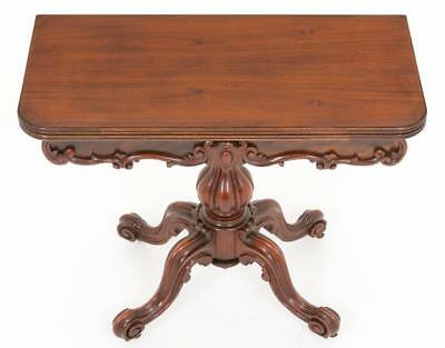 Victorian Mahogany Card Table - Games Tables 1860 6