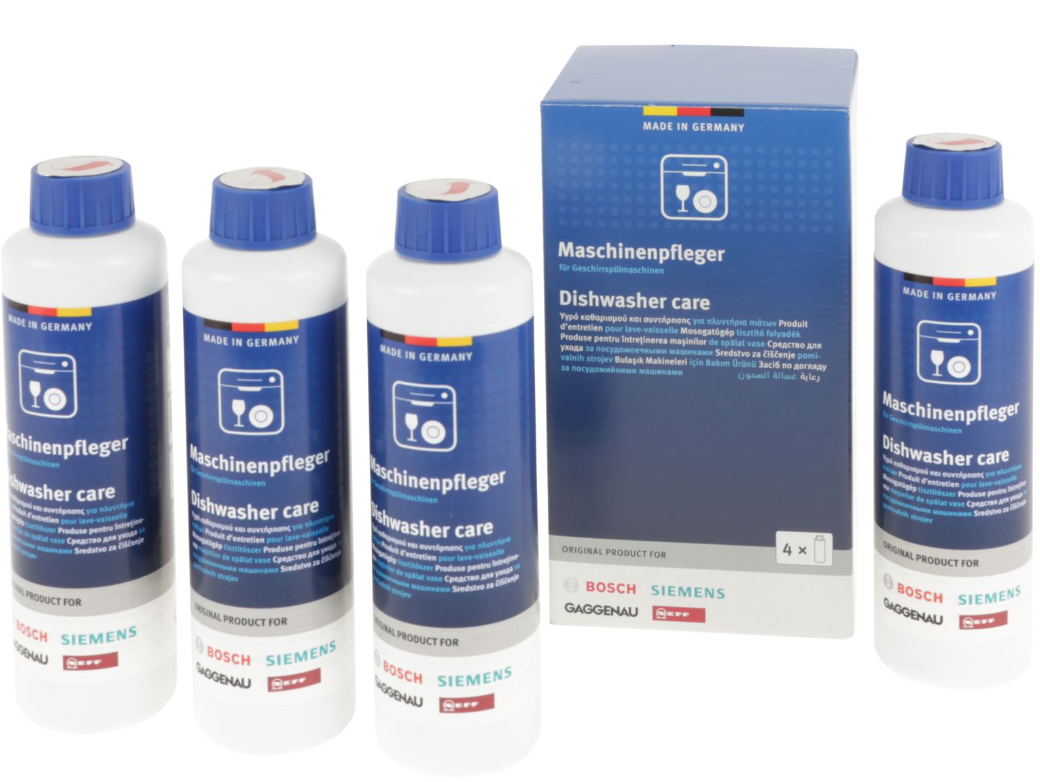 4 pezzi flaconi sgrassante lavastoviglie 250ml Bosch Siemens Neff Gaggenau 2