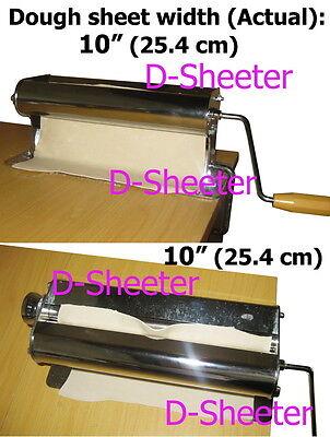 10 inch 254mm Dough roller sheeter Pizza pasta pastry ravioli roti maker machine