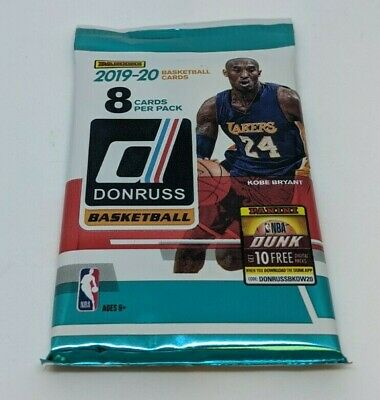 2019-20 PANINI DONRUSS NBA Basketball (1) NEW RETAIL PACK 8 CARDS MORANT? ZION? 6