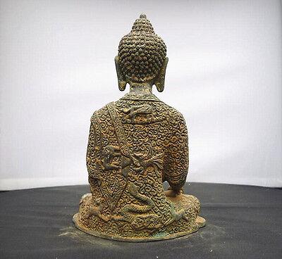 Old tibet buddhism Joss pure bronze sakyamuni Shakyamuni Amitabha buddha statue