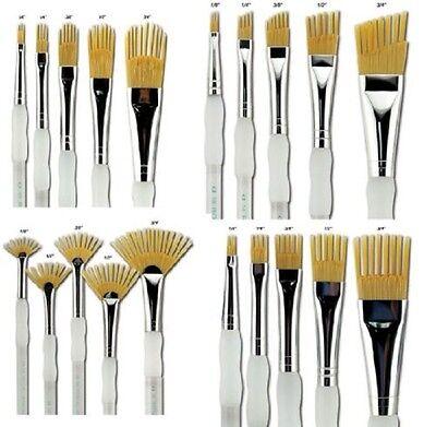 12X Artist Paint Brush Set Nylon Hair Watercolor Brushes Oil Painting Faddish